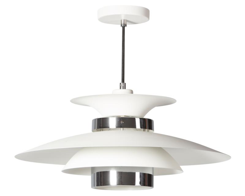 Hanglamp 'Danish' wit-chroom