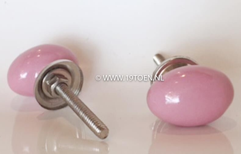 Knop mini ovaal roze
