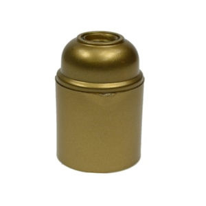 Fitting E-27 kunststof goud