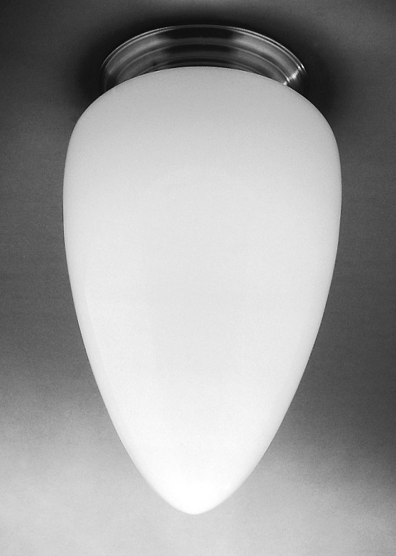 Plafonnière Menhir opaal L.