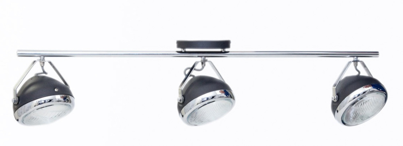 Plafondlamp Head 3-lichts zwart