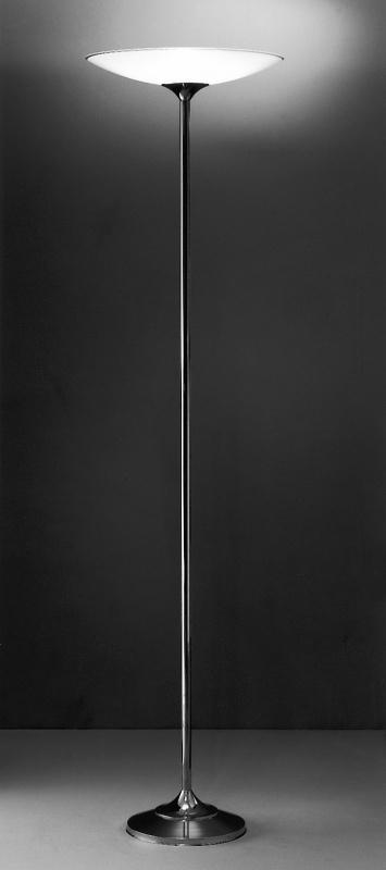Vloerlamp Strak + glas (wit)