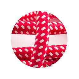 Textielsnoer rood met wit stipje