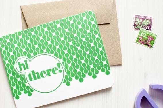 Letterpress Hi there!  10,5 x 13,5