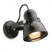 Plafond-/wandspot zwart S