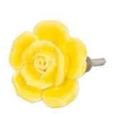 Knop roosje geel