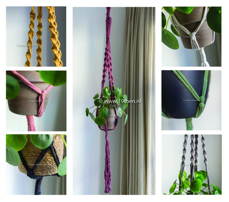 Plantenhanger macramé 7 kleuren