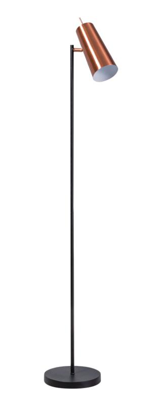 Vloerlamp Brooklyn zwart/koper