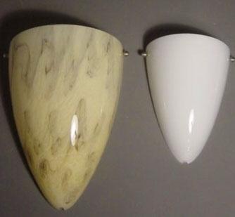 Wandlamp Menhir 1/2 marmer L.