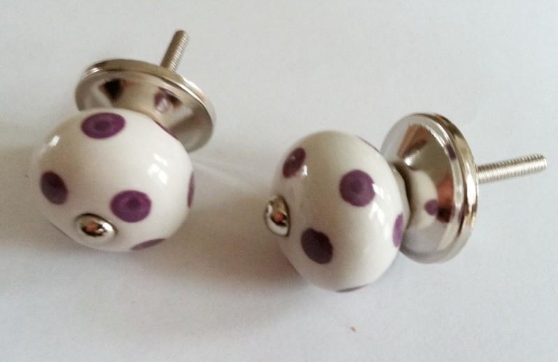 Knop mini paarse stip