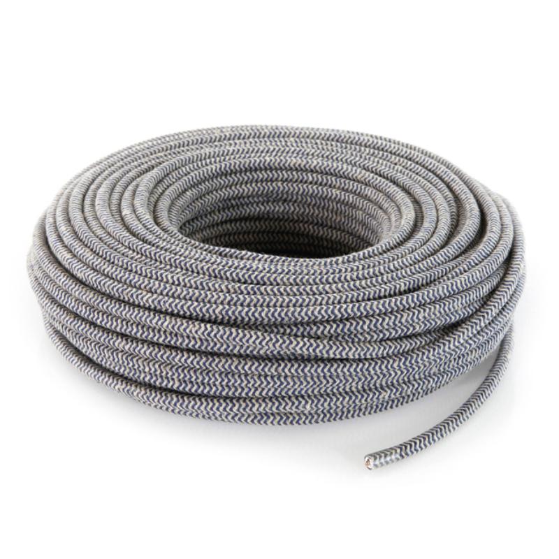 Textielsnoer zand-jeans zebra