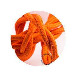 Textielsnoer gedraaid oranje