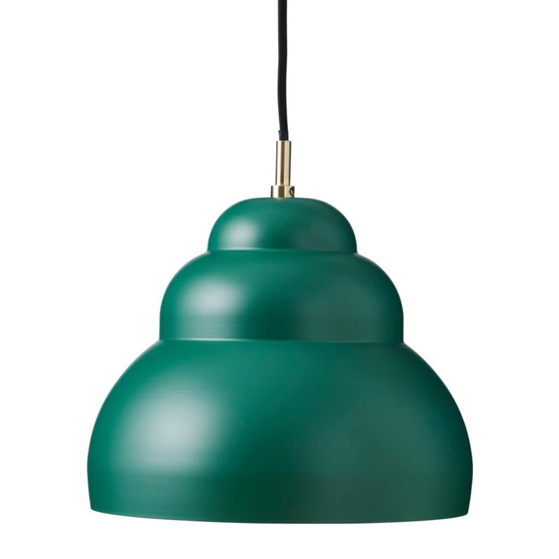 Hanglamp Bubble mat d.groen M
