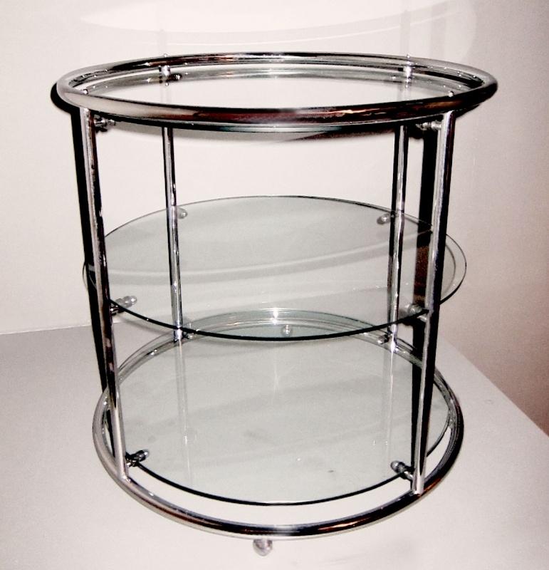 Tea table 3 glasplaten
