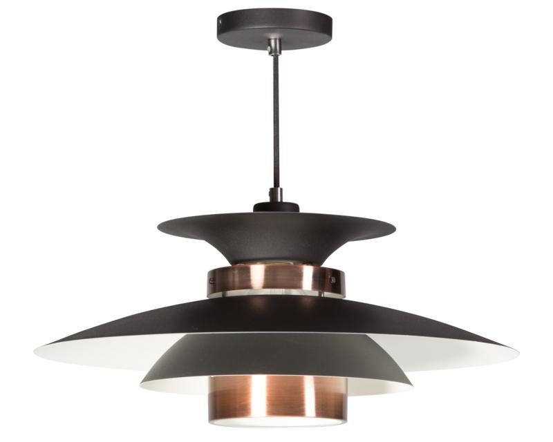 Hanglamp 'Danish' zwart-koper