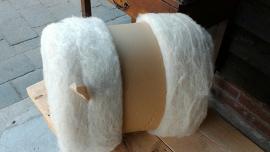 gekaarde wol : creme 1 kg.(nr 1257)