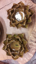 Waxinelicht magnolia oker geel