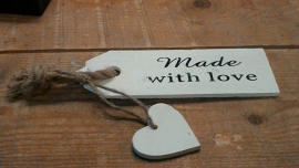 label made with love
