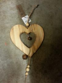 houten hanger , hart/ ster