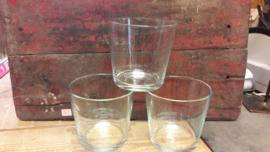 Glaspot konisch zwaar 13x12 cm