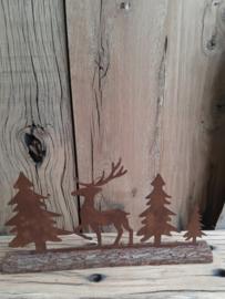 Rusty rendier-x-mas op hout