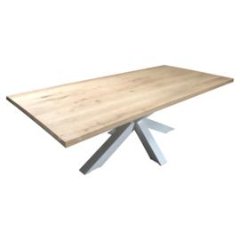 Nieuw eiken tafelblad met  boomstamrand 240x90x4cm