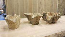 Grillige houten bakjes