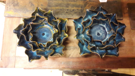 Waxinelicht magnolia deep blue