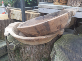 grote houten schalen 10 cm diep