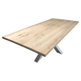 Nieuw eiken tafelblad met  boomstamrand 280x100x4cm