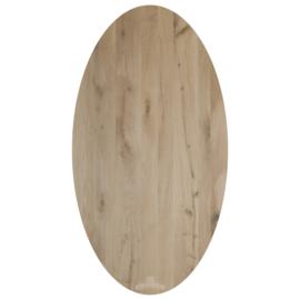 Nieuw eiken tafelblad Ovaal   130 cm tot 300 cm lang.