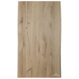 Nieuw eiken tafelblad met  boomstamrand 300x100x4cm