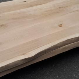 Nieuw eiken tafelblad met  boomstamrand 240x100x4cm