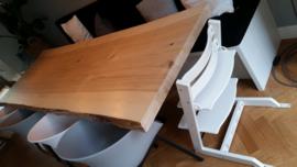 populierenhouten tafelbladen uit één stuk !