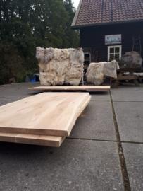 Nieuw eiken tafelblad met boomstamrand 200x100x4cm