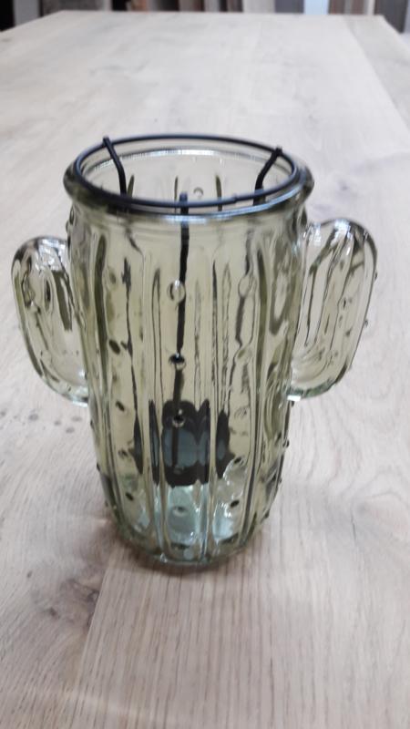 windlicht Glas Cactus