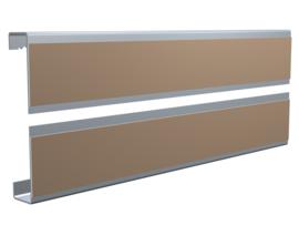 Dibond rail set 60cm (1x bovenrail  + 1x onderrail) max. 6 kg