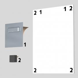 Spiegel Glas PVC Dibond hanger vierkant 70mm tot 3 kilo