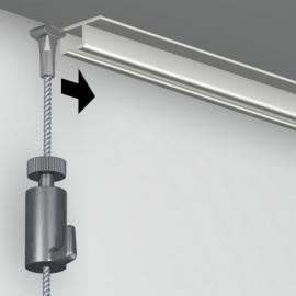 Systeemplafond rail zwart 200 cm