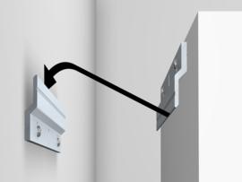 Z-bar 30cm compleet (2x bar + screw/plugs) max. 20 kg