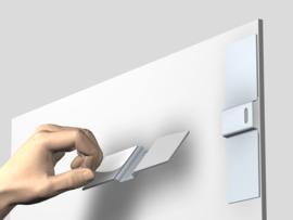 Security Dibondhanger set compleet (2x dibondhanger + 2x T-schroef + 2x pluggen) max. 6 kg