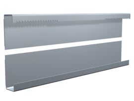 Dibond rail set 30cm (1x bovenrail  + 1x onderrail) max. 3 kg