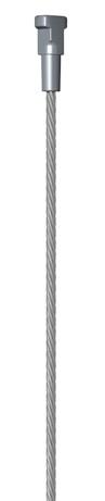 Staalkabel met Twister 150cm. (max. 20 kilo)