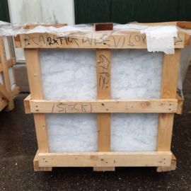 Vloertegel en wandtegel marmer Carrara Venato wit grijs 600x600x15 mm mat gezoet Prijs per m2