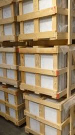 Vloertegel en wandtegel marmer Carrara Super wit C 600x600x14 mm Glanzend Gepolijst met strakke kanten Prijs per m2
