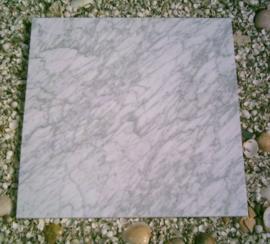 PARTIJ 18 M2 Vloertegel marmer Carrara wit grijs Venato 600x600x20 mm Mat gezoet Prijs per m2