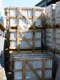 Vloertegel marmer Carrara wit grijs Venato 600x600x20 mm Mat gezoet Prijs per m2