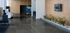 Vloertegel Chique Royale Nero Marquina 75x75 & 100x100 & 150x75 cm Glossy Prijs per m2