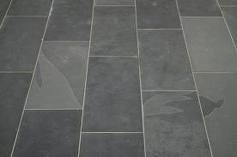 Vloertegel leisteen Brasil Black Slate zwart antracite 400x600x10 mm mat Prijs per m2
