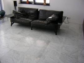 Vloertegel marmer Carrara grijs wit CD Venato 400x400x15 mm mat gezoet Prijs per m2